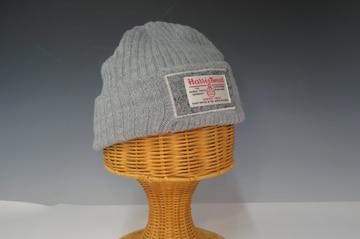 HarrisTweed ハリス ツイード ニット帽 グレー