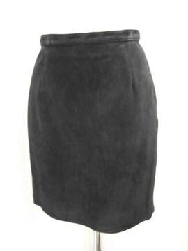 【indio】スウェードの黒ミニスカートです