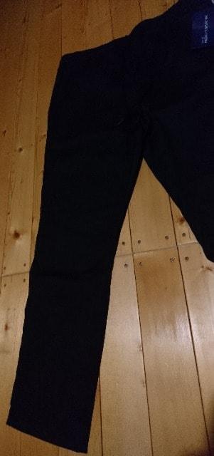 新品未使用★men's★田中圭モデル商品★ブラックロングパンツ★楽パン★LL < 男性ファッションの
