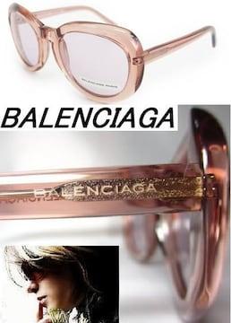 バレンシアガ BAL0128/S サングラス クリスタルピンクXクリアピンク 32400円 新品