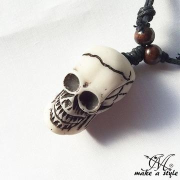 スカル ガイコツ ドクロ skull 髑髏 ネックレス チョーカー 648