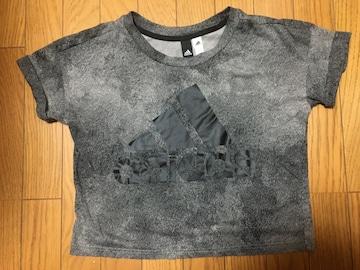 中古アディダスM総柄グラデーション灰色Tシャツadidas