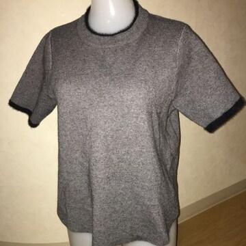 ザラ ニット 半袖 セーター グレー M