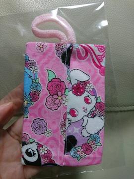 ポケットティッシュケース★ジュエルペット柄★ピンク