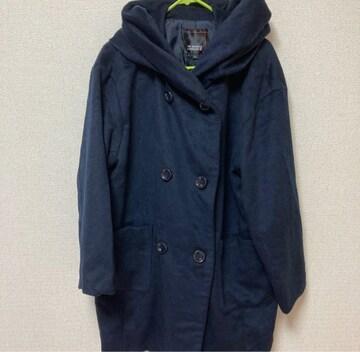 HK works London 紺色 コート Lサイズ 大きめ
