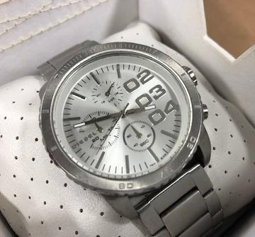 Y34★ディーゼル★腕時計★美品★大型フェイス★シルバー
