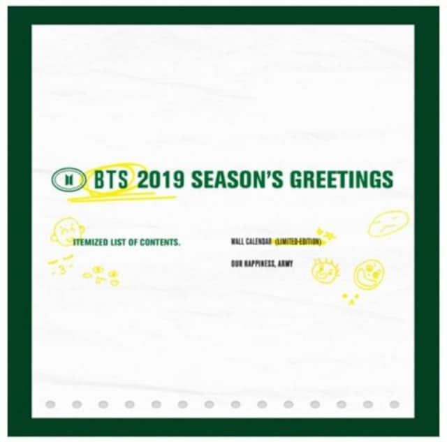 BTS☆壁掛けカレンダー・FC限定/新品未開封/送料込み  < タレントグッズの
