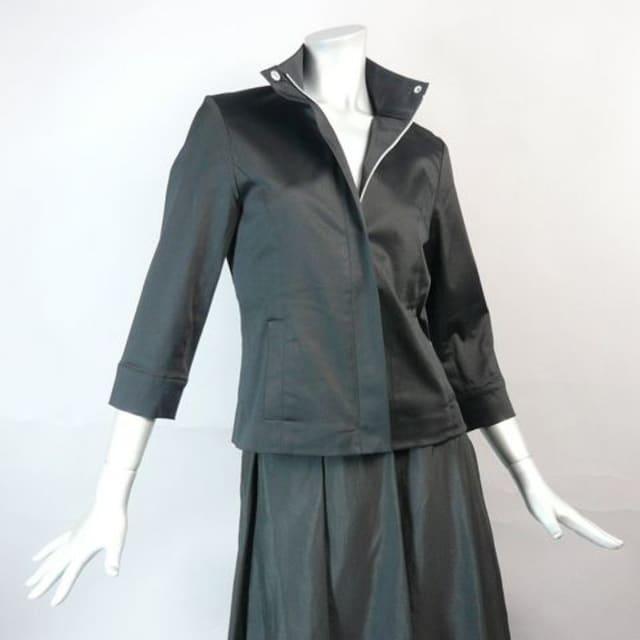 【新品★7号】 黒のジャケット七分袖★美シルエット★送料180円 < 女性ファッションの