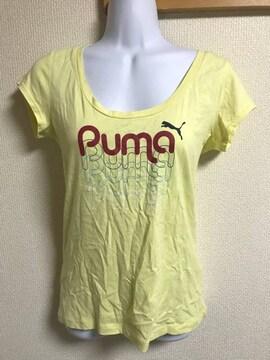 ★PUMA イエロー×ロゴ入Tシャツ  M★
