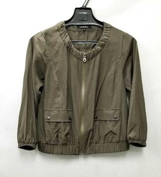 美品ロートレアモンブルゾン薄手春ジャケットカーキ七分袖