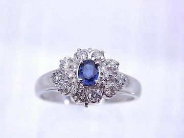 即買 Pt 0.30 サファイヤ ダイヤモンド リング 12号 仕上げ済 r-358★dot