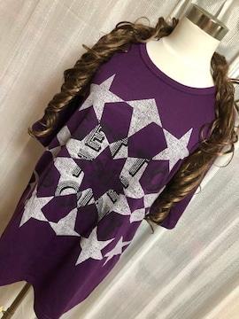 新品タグ付き★4L★半袖Tシャツ★濃紫