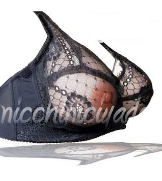 誘って★人工乳房用ブラジャー黒B75★シリコンバストにピッタリ