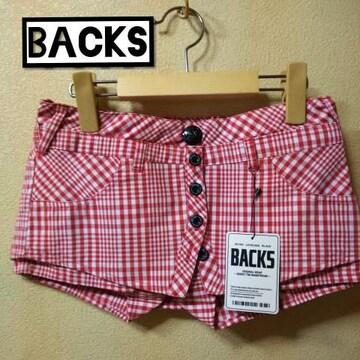 BACKS★新品★ベリーショーパン/チェック赤