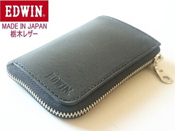 送料無料 エドウィン 栃木レザー4連+スマートキーケース日本製BK