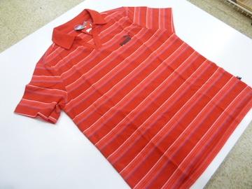 XL赤)プーマ★半袖ポロシャツ583213オープンカラー鹿の子 レギュラ-FIT