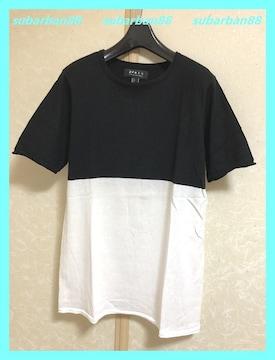 21MEN☆涼感美品☆超柔らか♪薄手配色サマーニットTシャツ
