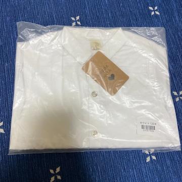 【新品未使用】pabama 無地白シャツ 120cm 入学式 卒園式