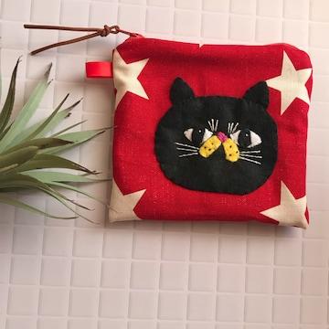 黒猫chanポーチ★handmade