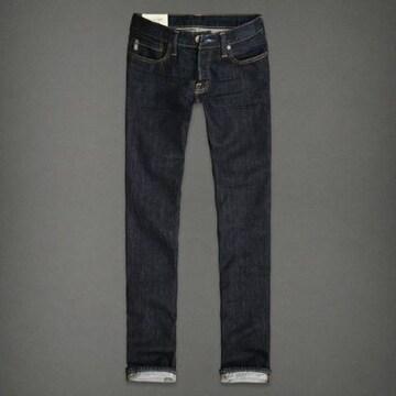 【Abercrombie&Fitch】Vintage Slim Straight ジーンズ 28/Dark