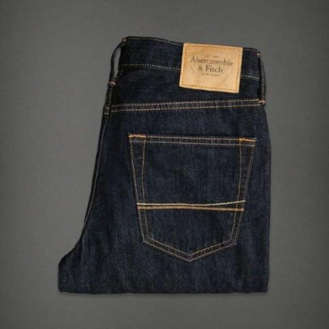 【Abercrombie&Fitch】Vintage Slim Straight ジーンズ 28/Dark < ブランドの