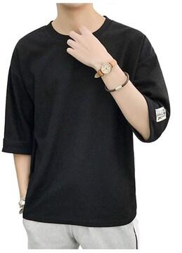 メンズTシャツ  無地 黒