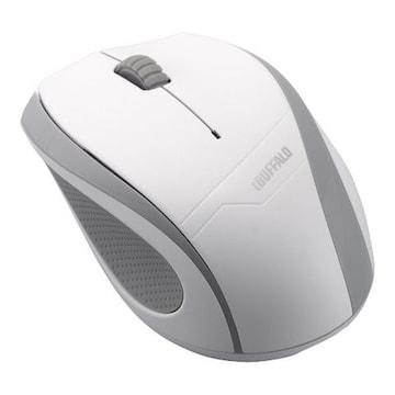 ☆iBUFFALO 無線 BlueLEDマウス 3ボタンタイプ ホワイト