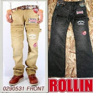 Rollin(ローリン)コーデュロイブッシュパンツ/ブラウンL
