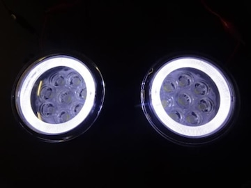 日産 LEDイカリングフォグランプ 白2個 セレナエルグランドエクストレイルジュークキューブ