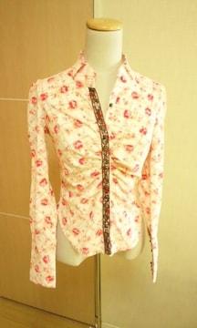 極美品☆LIZ LISA小薔薇くしゅ�A背魅せSexyなシャツ☆3点で即落
