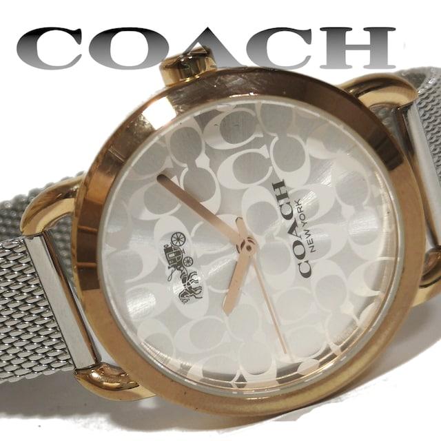 美品 1スタ★COACH コーチ【SIGNATURE】美しい腕時計 < ブランドの
