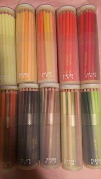 500色の色えんぴつ☆丸型色鉛筆 ケース+情報カード付