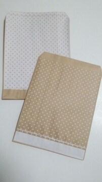 R70サイズ平袋★ピンドット白20枚☆可愛い紙袋