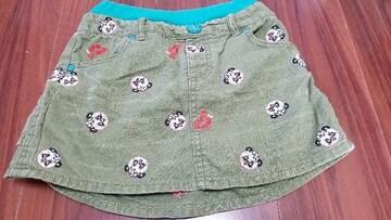 ★グラグラ★パンダ刺繍総柄スカート★サイズ5★