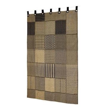 厚手 アフリカンモチーフ カーテン コットン素材 民族調 コンゴクバ王国 伝統織物