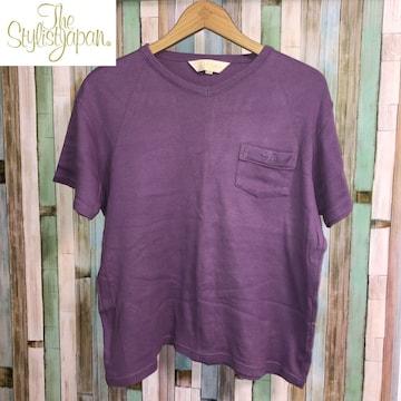 THE STYLIST JAPAN ポケット刺繍Tシャツ