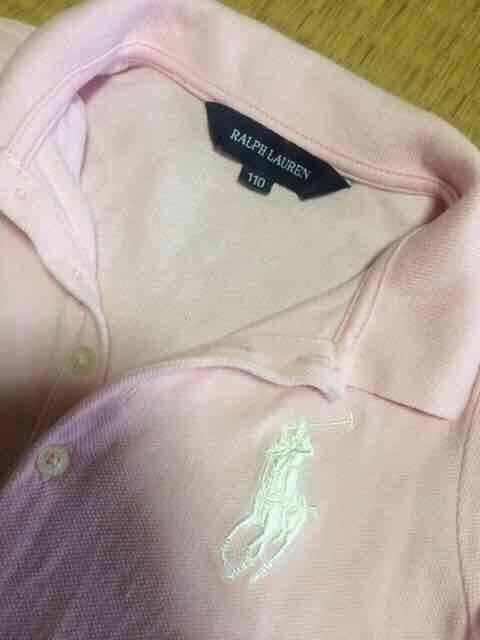 美品 ラルフローレン ポロシャツ キッズ 半袖 ピンク 110 < ブランドの