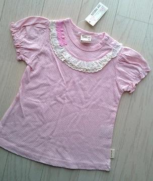 95cm★NATURAL AGE★女の子★かわいいパフスリーブTシャツ★新品★