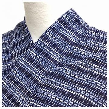 綿 浴衣 夏 小サイズ 身丈149 裄61 綿100% 中古品