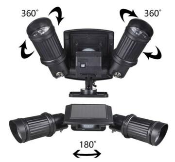 LEDソーラーセンサーライト 360角度調整可