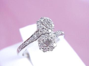 【7号】K18WG ダイヤモンド 0.5ct 華やかなリング 仕上済 A35★dot