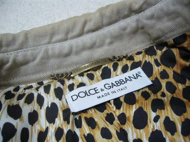 DOLCE&GABBANA/羽付ヴィンテージ加工デニムジャケット < ブランドの