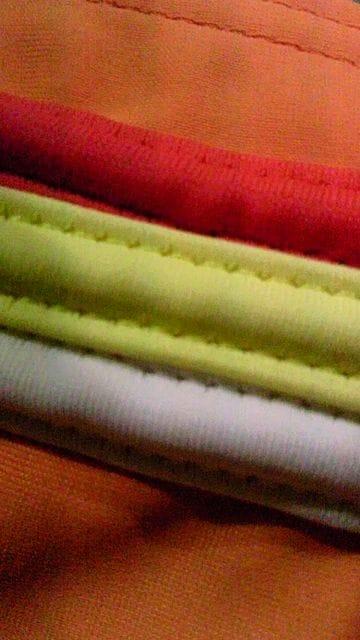 op girl〓ロゴ&カラフルスリーラインホルターリボン三角ビキニ水着〓紐パン風〓オレンジ < 女性ファッションの