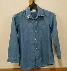 サイズ140■8分袖■デニムシャツ■