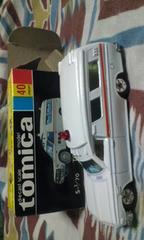 トミカ トヨタ救急車 1Fホイル 黒箱 日本製。