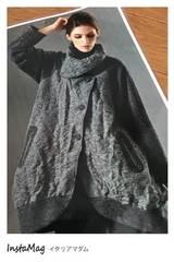 新品タグ付イタリア製生地ステキなコート158000円M〜L最安値