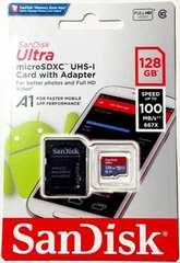 SanDisk マイクロSDXC128GB アダプター付き(サンディスクmicroSDカード128ギガ)