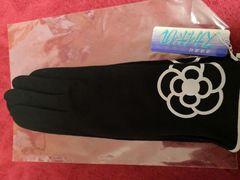 新品 CLATHAS  クレイサス 紫外線 手袋 カメリア 黒