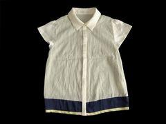 AG by aquagirl アクアガール サテン使い 半袖 シャツ ブラウス
