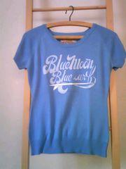 BLUE MOON BLUE/ブルームーンブルー Tシャツ型サマーニット美品